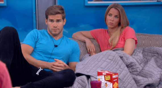 Shelli and Clay listen to James as he explains he needs a compelling reason, with supporting evidence, to pull one of them off of the block.