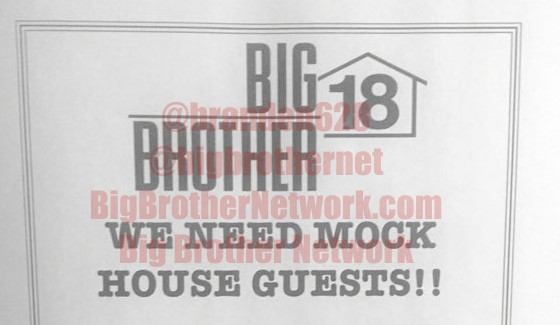 Big Brother 18 flyer. Courtesy of BigBrotherNetwork.com
