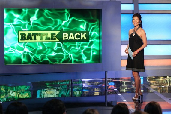 Host Julie Chen at July 21 live eviction night. BIG BROTHER airs Sundays and Wednesdays (8:00-9:00 PM, ET/PT); and Thursdays (9:00-10:00 PM, live ET/delayed PT), featuring the live eviction show hosted by Julie Chen. Photo: Sonja Flemming/CBS ©2016 CBS Broadcasting, Inc. All Rights Reserved
