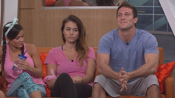 (L-R) Natalie Negrotti, Tiffany Rousso and Corey Brooks are on the BB block on July 17. BIG BROTHER airs Sundays and Wednesdays (8:00-9:00 PM, ET/PT); and Thursdays (9:00-10:00 PM, live ET/delayed PT), featuring the live eviction show hosted by Julie Chen. Photo: Monty Brinton/CBS ©2016 CBS Broadcasting, Inc. All Rights Reserved