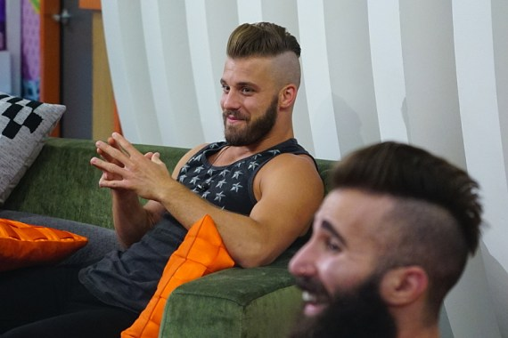 Paul Calafiore sports a new haircut on the Special Battle Back Episode on Big Brother, July 22. BIG BROTHER airs Sundays and Wednesdays (8:00-9:00 PM, ET/PT); and Thursdays (9:00-10:00 PM, live ET/delayed PT), featuring the live eviction show hosted by Julie Chen. Photo: Sonja Flemming/CBS ©2016 CBS Broadcasting, Inc. All Rights Reserved