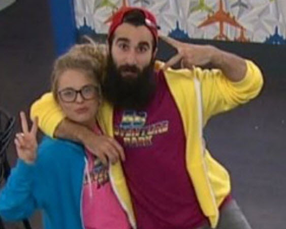 Big Brother 18's Nicole Franzel and Paul Abrahamian (CBS)