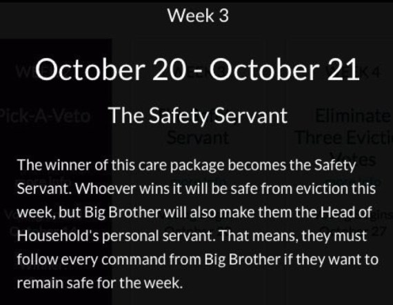 The Week 3 Care Package Big Brother Over the Top