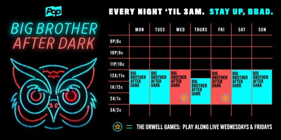 Big Brother After Dark Schedule