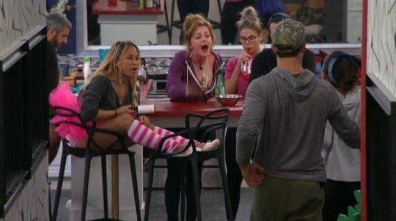 Big Brother 19 Raven Walton, Jessica Graf, Cody Nickson, Elena Davies, Alex Ow, and Matt Clines