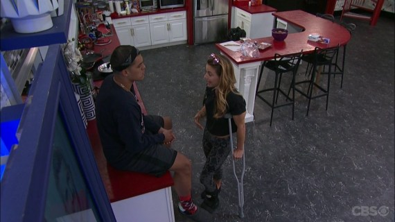Big Brother. 19 Josh Martinez and Christmas Abbott