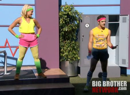 Big Brother 14 - Janelle and Dan in Coaches Comp