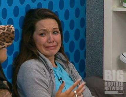 Danielle crying on Big Brother 14