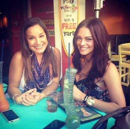 Jessie Kowalski and Kaitlin Barnaby at the bar