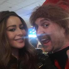 Elissa with Adam the Elf