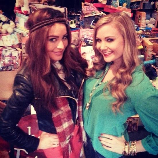 Elissa and Kara pose