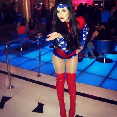 Victoria Rafaeli as Wonder Woman for Halloween 01