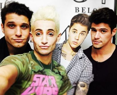 Cody, Frankie, Zach, & a frightened Justin
