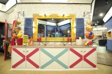 Sinks in the Big Brother 18 bathroom