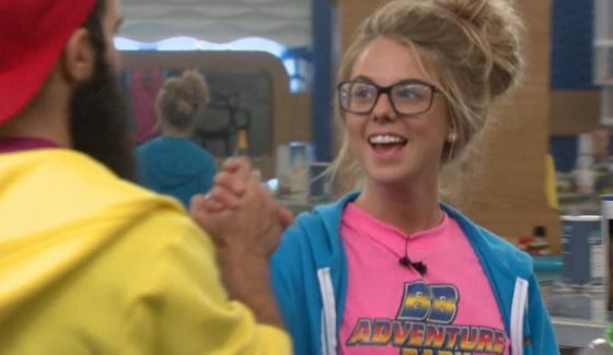 Nicole celebrates her win with Paul on BB18