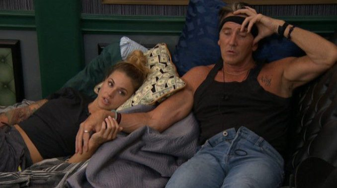 Kevin and Christmas hanging out on Big Brother 19