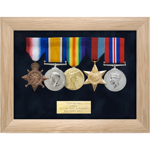 Medal Display Frame Five Medals • Medal Makers - Commemorative and ...