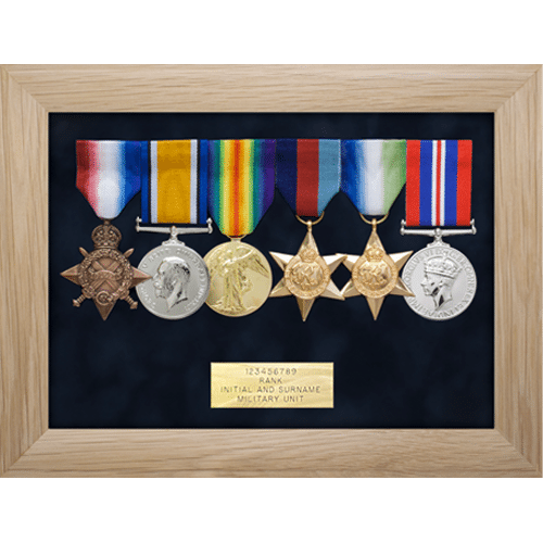 Medal Display Frame Six Medals • Medal Makers - Commemorative and ...