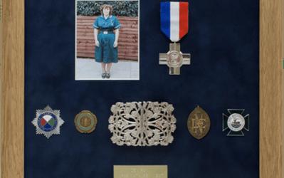Military Medal Display Frame Case Study-Nurse West