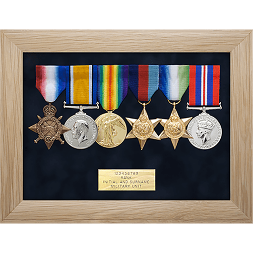military medal display frame 6 space