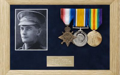 Military Medal Display Frame Case Study-Balstrup