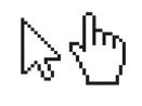 two mouse cursors