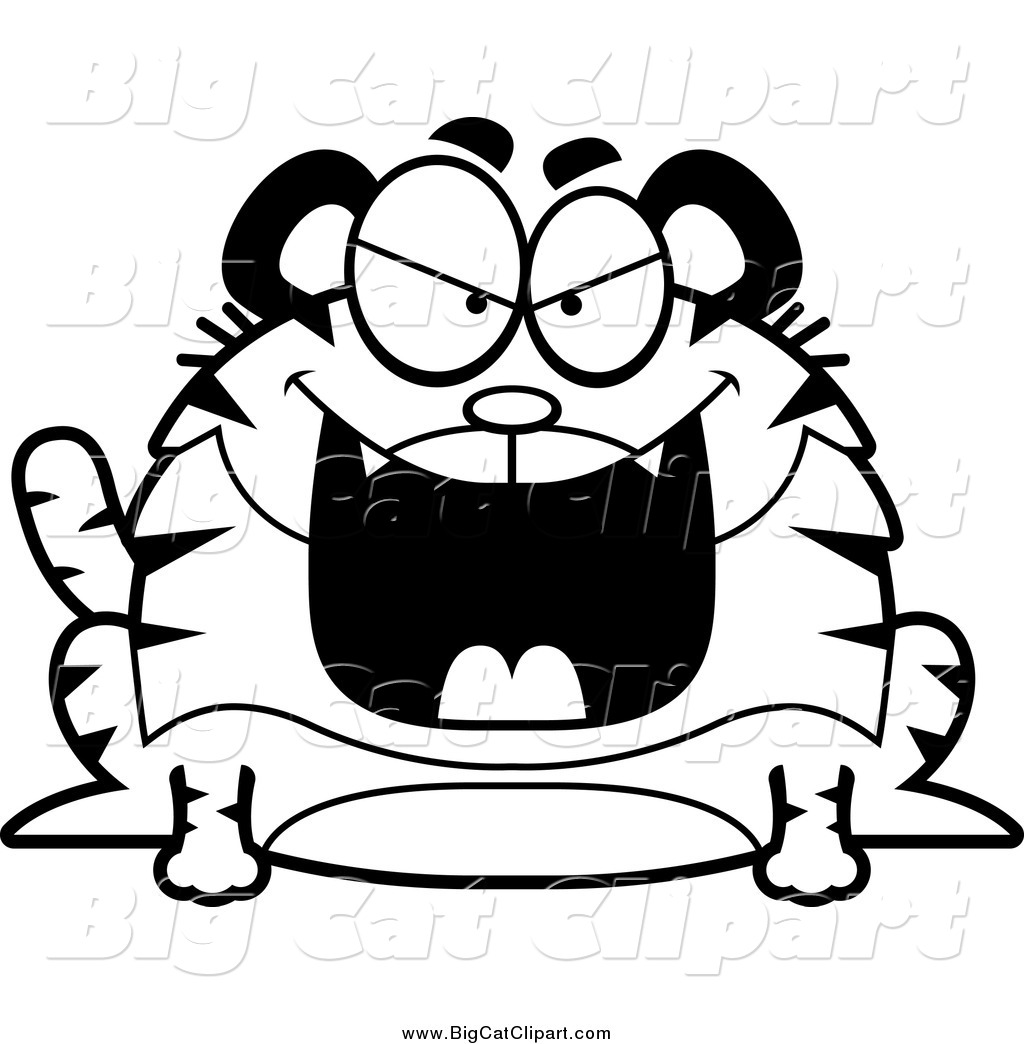 Royalty Free Line Drawing Stock Big Cat Designs