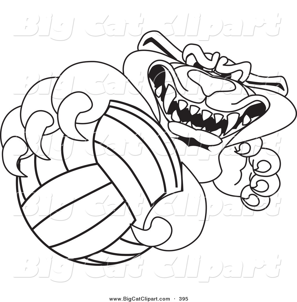 Royalty Free Stock Big Cat Designs Of Volleyballs