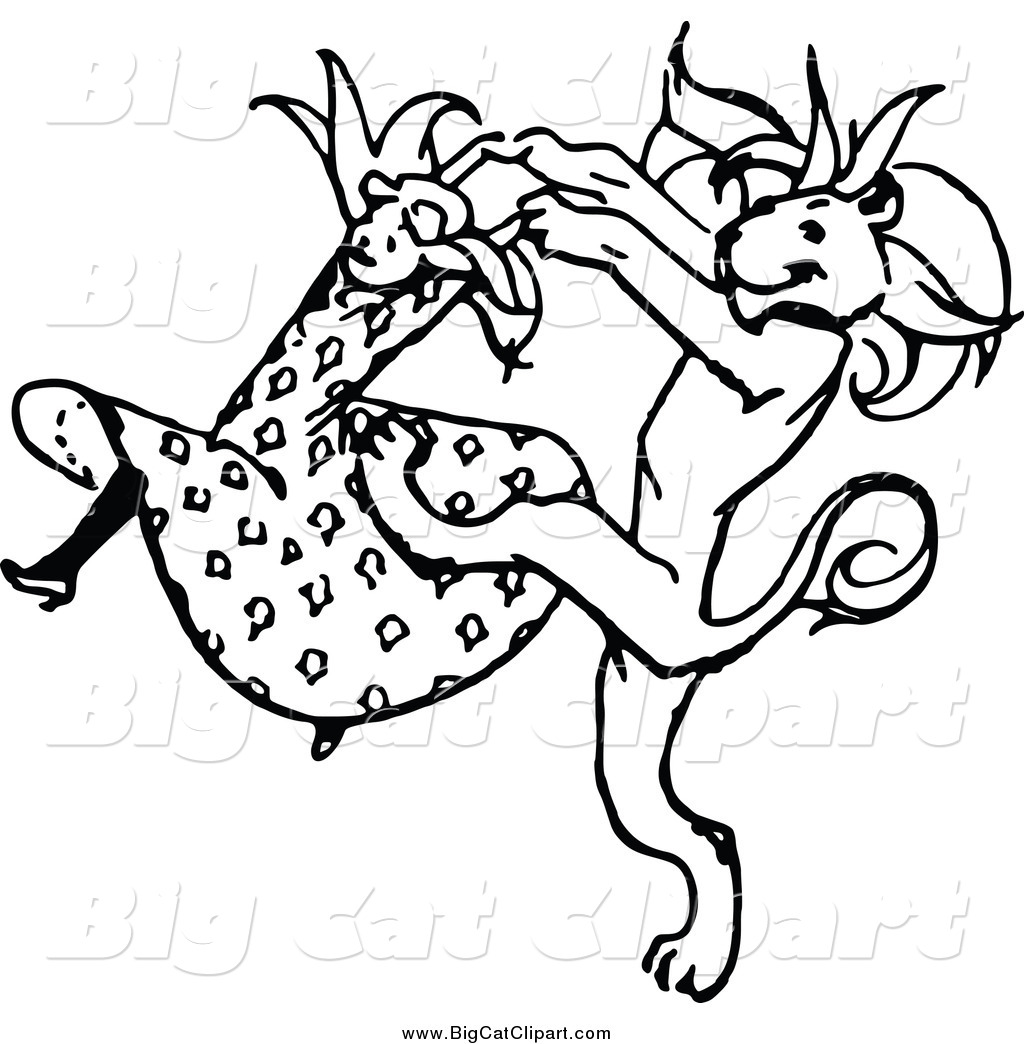 Big Cat Vector Clipart Of A Black And White Dancing Girl