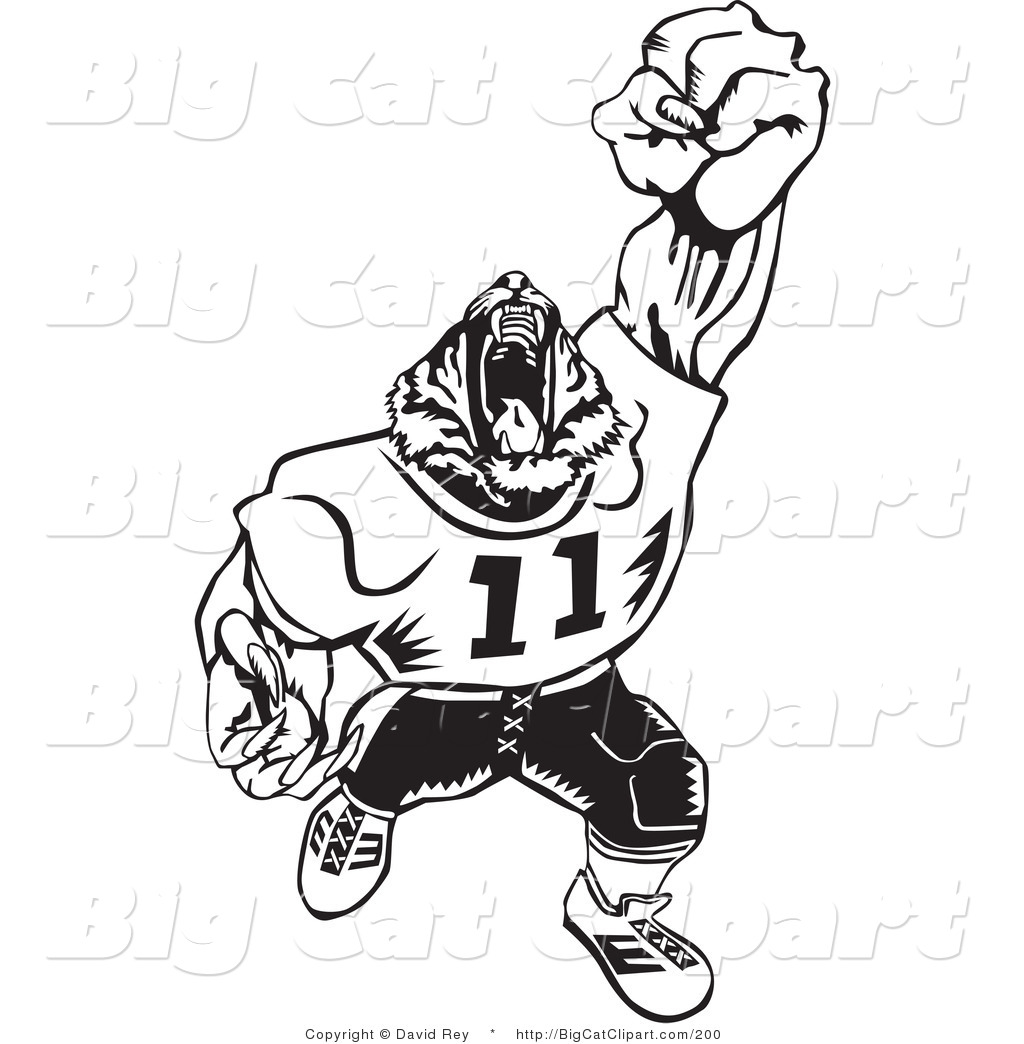 Royalty Free American Football Stock Big Cat Designs