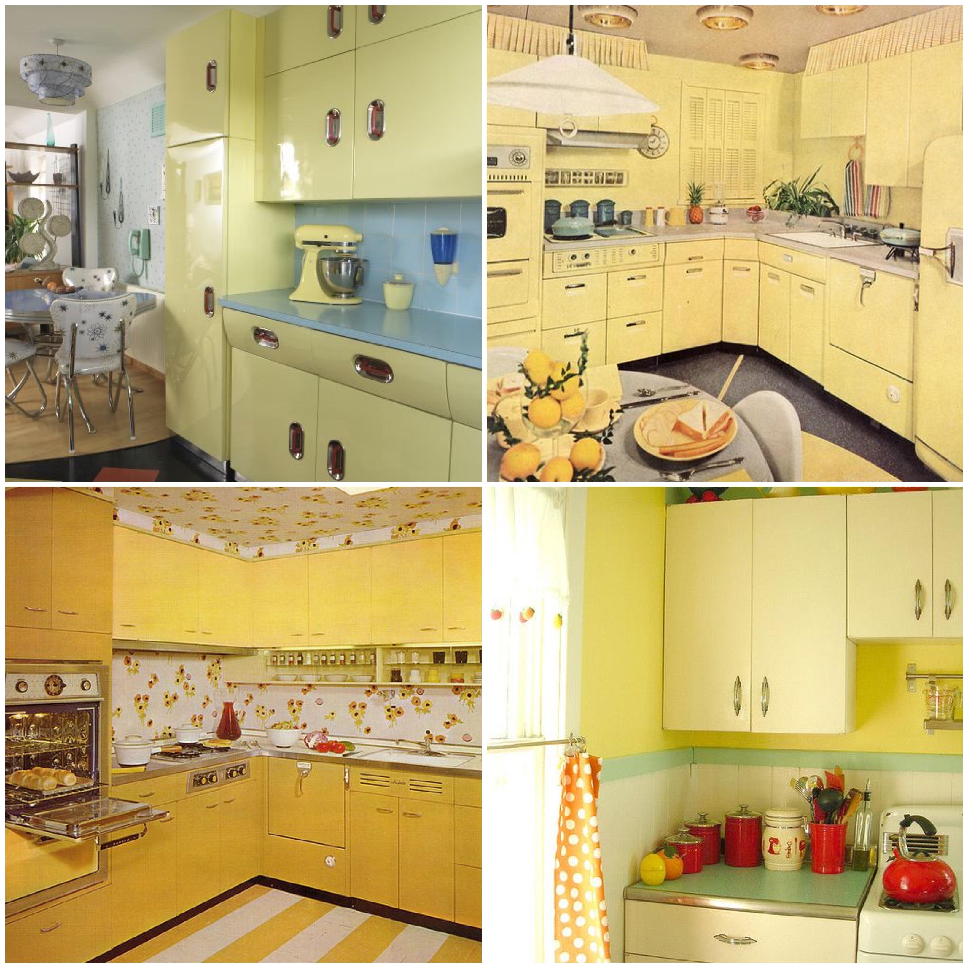 yellow kitchen appliances 7 piece table set taste the rainbow vintage kitchens of every shade