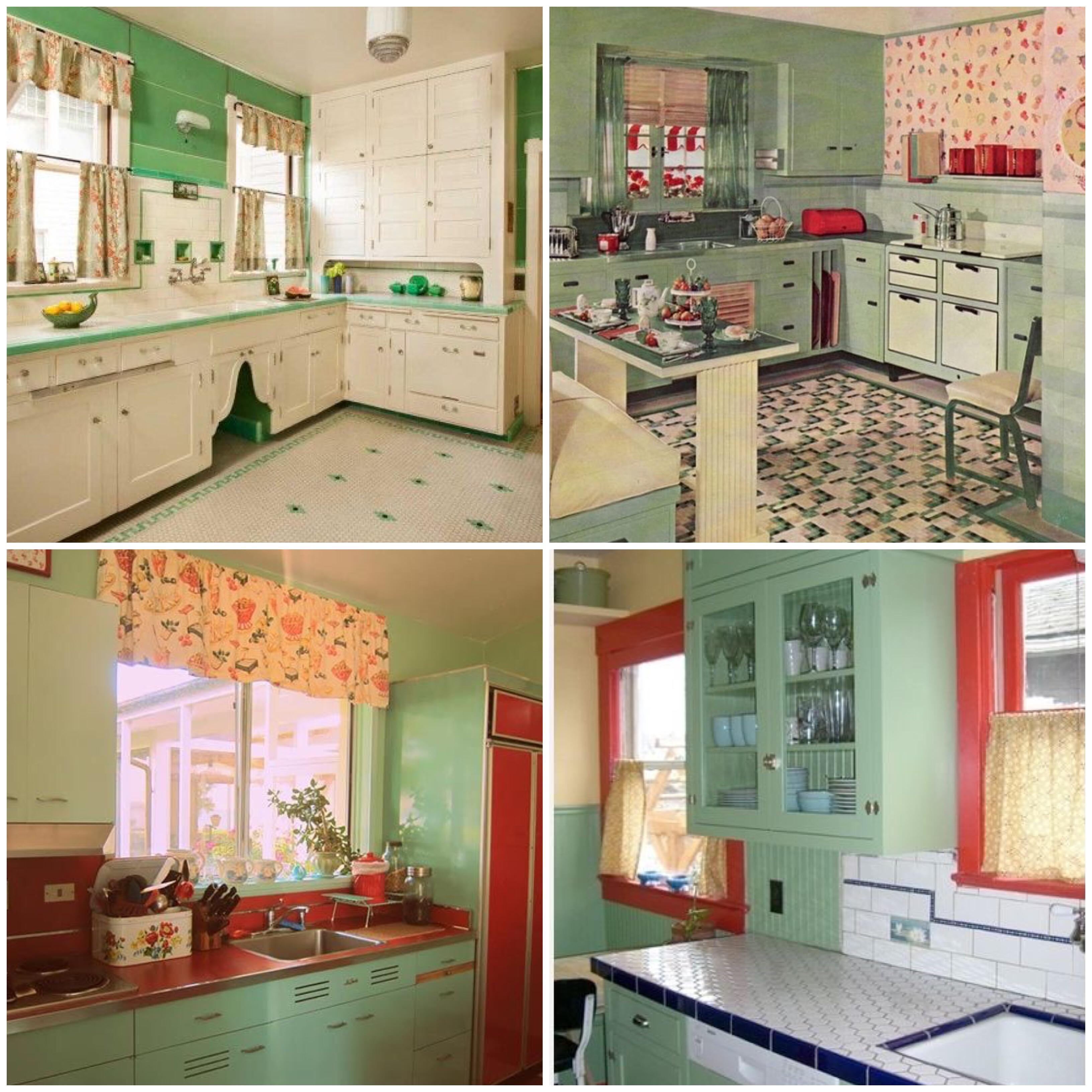 Taste the Rainbow Vintage Kitchens of Every Shade