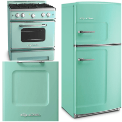 Turquoise Kitchen Appliances Sink Capacity Sparkling White Kitchens With Big Chill