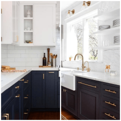 Navy Kitchen Cabinets Glass Cabinet Knobs 4 Ways To Use Blue In Your