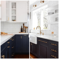 Gray Kitchen Cabinets With Blue Walls | www.resnooze.com