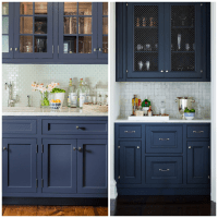 Dark Blue Cabinets In Bathroom - Bathroom Design Ideas