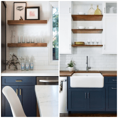 Navy Kitchen Cabinets Modern Appliances 4 Ways To Use Blue In Your