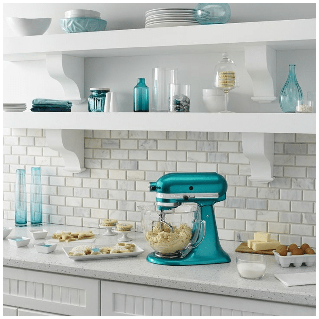 turquoise kitchen appliances prefab outdoor kits 6 creative ways to include teal in your