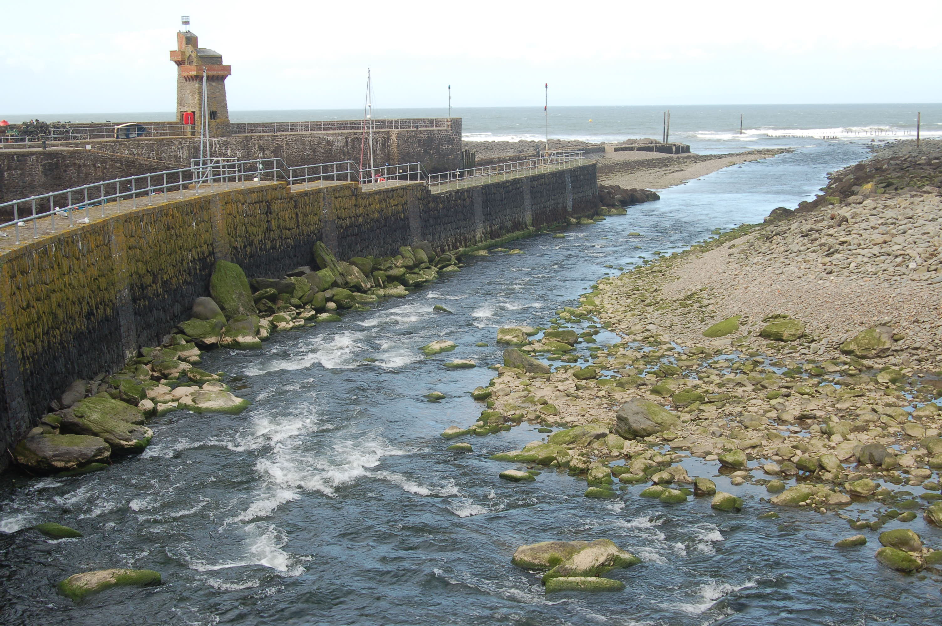 River and Bristol Channel at Lynmouth