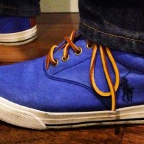 Blue Suede Shoes – Upcycle!
