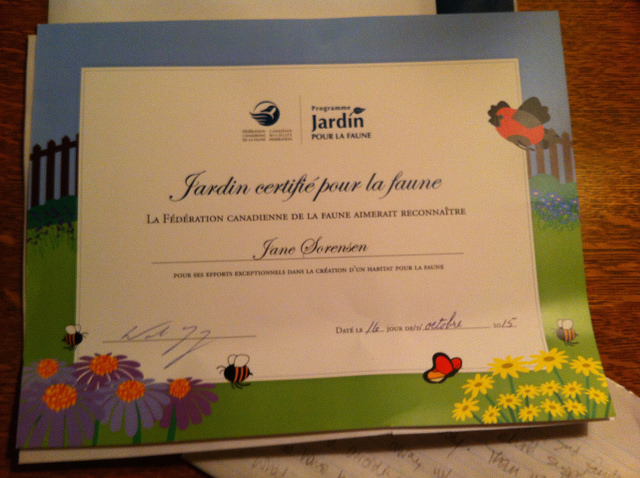 wildlife garden certification
