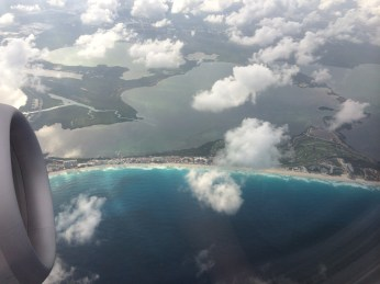 cancun from plane 3