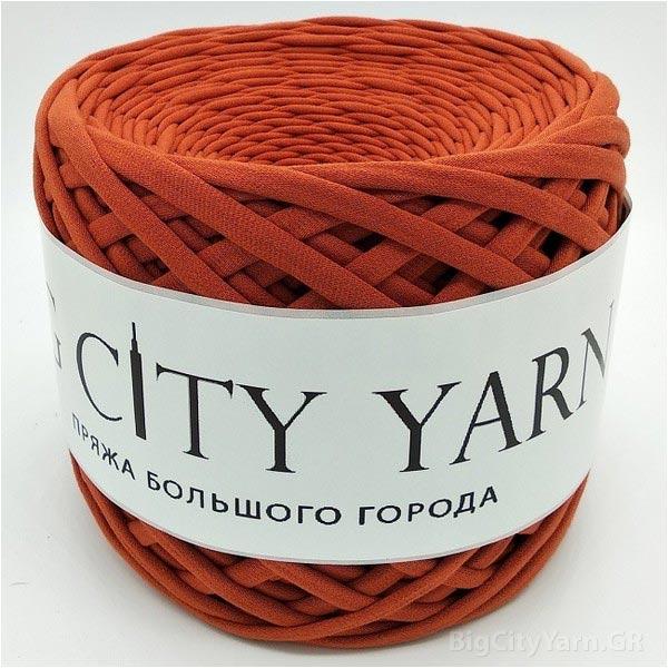 Βαμβακερό νήμα για πλέξιμο, Big City Yarn, Τερακότα