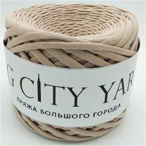 Βαμβακερό νήμα για πλέξιμο, Big City Yarn, Καφέ ο λέ