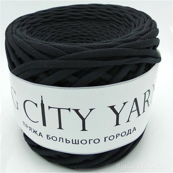 Βαμβακερό νήμα για πλέξιμο, Big City Yarn, Μαύρο