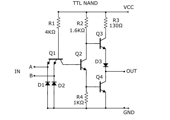 ☑ Diode Resistor Logic Nand Gate