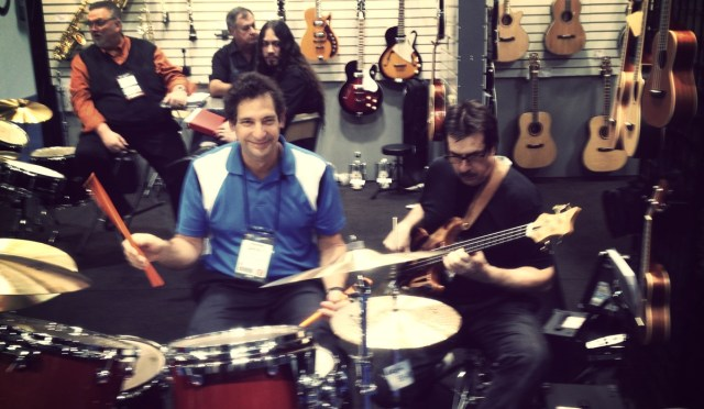Danny Gottlieb and Jeff Berlin conversing via music.