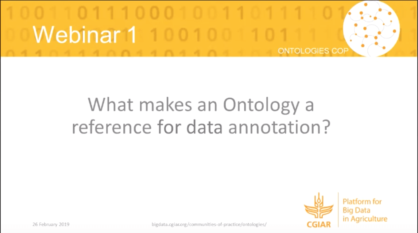 Webinar summary - What makes an ontology a reference for data annotation?