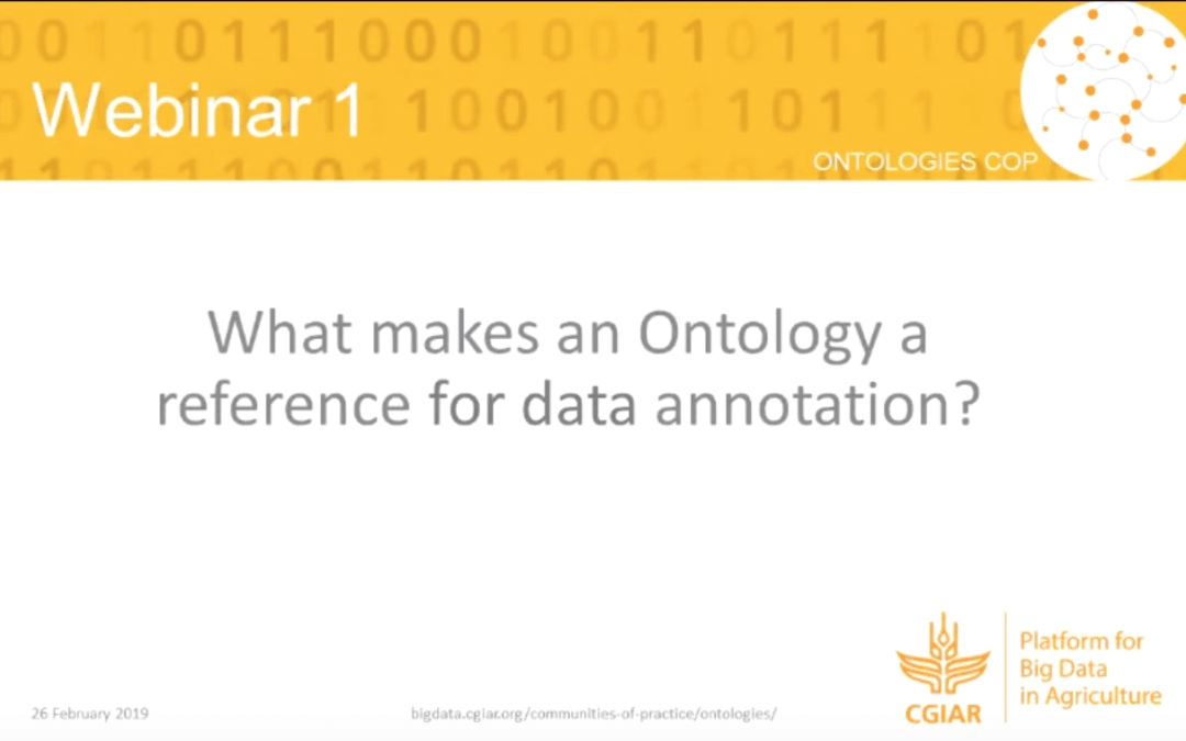Webinar summary – What makes an ontology a reference for data annotation?