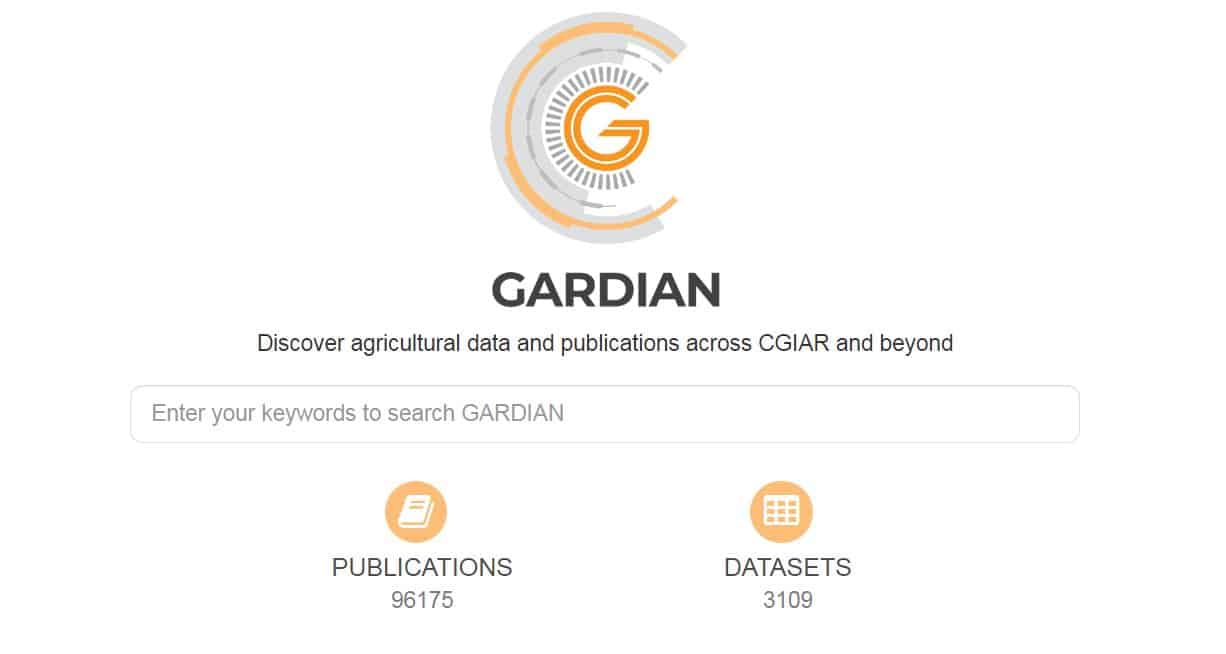 GARDIAN: The data search tool unlocking agricultural development innovation